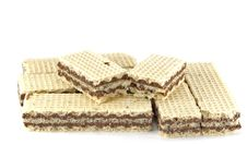 Stack Of Chocolate Wafers Stock Photos