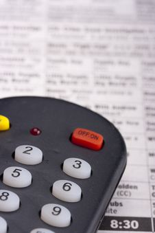 Free Remote For The TV Royalty Free Stock Image - 17492306