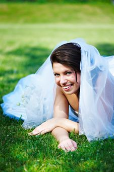 Free Fanny Bride On The Grass Stock Photos - 17492443