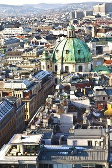 Free View Over Vienna In Snow Stock Images - 17492534