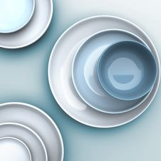 Free Dish And Bowl Top Veiw Royalty Free Stock Photo - 17492835
