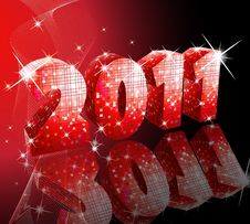 Free Disco Style New Year Stock Photography - 17492852