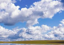 Free Lake On Green Meadow. Royalty Free Stock Photography - 17493117