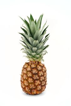 Free Pineapple On White Background Royalty Free Stock Photos - 17493128