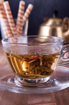 Free Cup Of Green Tea Royalty Free Stock Photography - 17493157