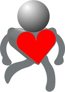 Heart And Figures Royalty Free Stock Photography