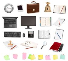 Business And Office Supplies. Vector. Royalty Free Stock Photos