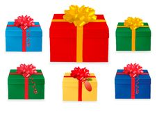 Free Set Of Gift Boxes. Stock Photos - 17494053