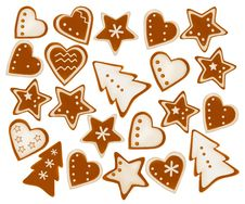 Free Collection Of Gingerbread Cookies. Stock Images - 17494054