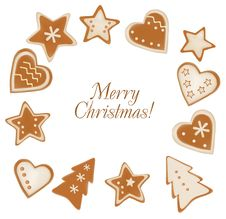 Free Collection Of Gingerbread Cookies. Royalty Free Stock Photos - 17494058