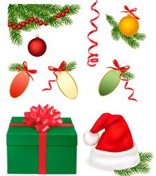 Free Collection Of Chrismas Objects. Stock Photos - 17494063