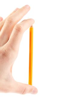 Free Hand Hold Pencil. Isolated Stock Image - 17494211