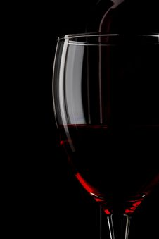 Free Red Wine. Bottle, Glass Stock Photos - 17494413