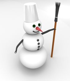 Free Snowman Royalty Free Stock Images - 17494489
