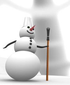 Free Snowman Royalty Free Stock Image - 17494496