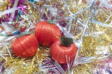 Free Christmas Ornament With Apples Stock Photos - 17494603