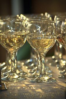 Free Glasses With Champagne Royalty Free Stock Image - 17494616