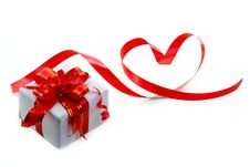 Free Gift Box With Red Bow Stock Image - 17494681