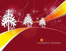 Christmas Road Stock Photo