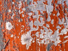 Free Red Peeling Paint. Royalty Free Stock Image - 17494906