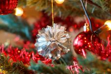 Free Closeup Detail Of Christmas Decoration On Tree Stock Photos - 17495263