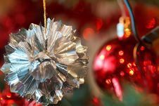 Free Closeup Detail Of Christmas Decoration On Tree Stock Image - 17495291