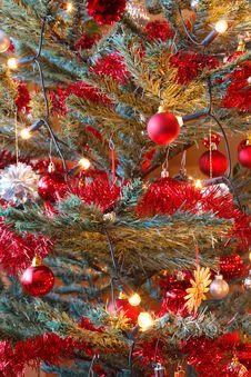 Free Christmas Decoration On Tree With Light Stock Photo - 17495380