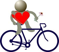 Free Bike Figures Royalty Free Stock Photo - 17495425