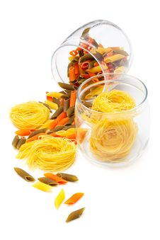 Pasta In Glass Jar Royalty Free Stock Photography