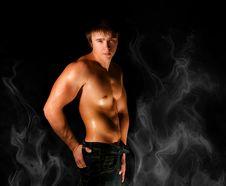 Free Muscular Man Royalty Free Stock Image - 17495826