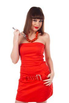 Free Girl With Tomato Stock Photo - 17496090
