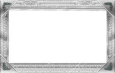 Free Monogram Photo Frame Royalty Free Stock Photos - 17496878