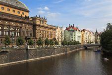 Free Vltava River Embankment, Prague, Czech Republic Royalty Free Stock Photography - 17497037