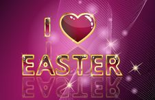 Free Easter Card Royalty Free Stock Photo - 17497315