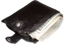 Free Old But Thick Wallet With Money Stock Images - 17497564