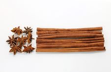 Free Star Anise And Cinnamon Sticks Stock Photo - 17498710
