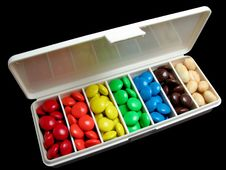 Free Pillbox Candy Colors Royalty Free Stock Images - 17498739
