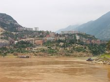 A City On The Yangtze River Royalty Free Stock Photos
