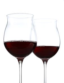 Free Wine Glasses Half Full With Clipping Path Royalty Free Stock Photography - 17499077