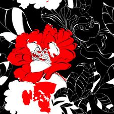 Free Seamless Floral Background Royalty Free Stock Photo - 17499215