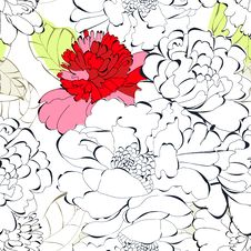 Free Seamless Floral Background Stock Photos - 17499253
