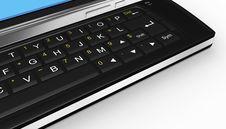 Free Black Mobile Smartphone - 3d Render Stock Image - 17499621