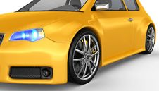 Free Yellow Sports Car - 3D Render Royalty Free Stock Photo - 17499655