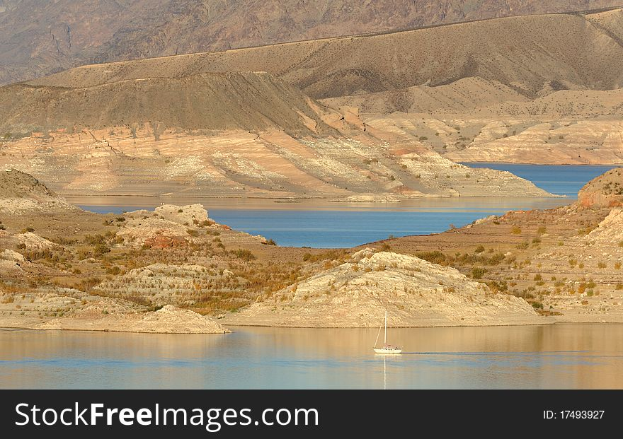Sail boat on Lake Mead