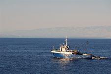 Fishermen Boat Royalty Free Stock Photography