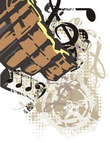Free Music Instrument Background Royalty Free Stock Image - 1750536