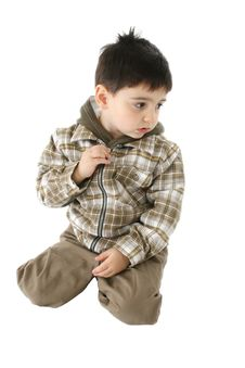 Free Disinterested Toddler Boy Royalty Free Stock Photos - 1751148