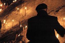 Free Men Inflaming Candle Stock Photos - 1751483