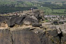 Free Cow And Calf Rocks Ilkley Royalty Free Stock Image - 1751706