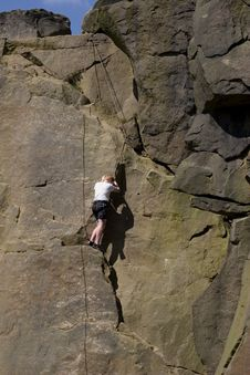 Free Climber At Cow And Calf Rocks Stock Photos - 1751783